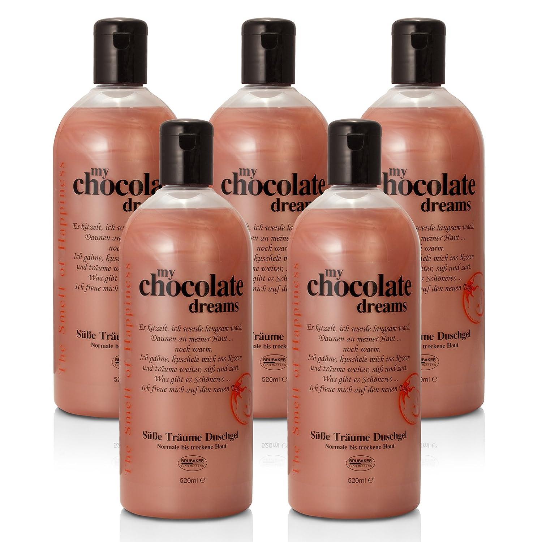 'BRUBAKER Happiness My Chocolate Dreams 5X Gel Doccia Da 520ML Set Cioccolato