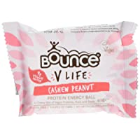 Bounce V Life Vegan Protein Energy Ball Cashew Peanut, 40 g, Pack of 12
