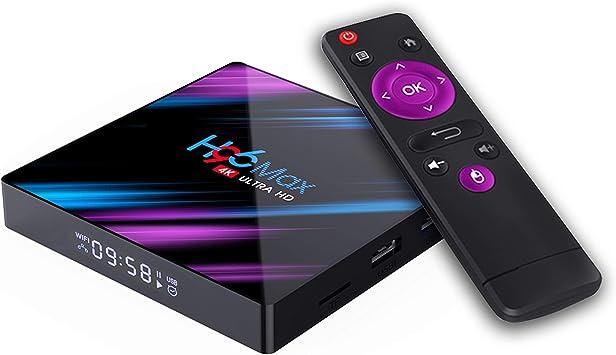 Xilibod H96 MAX TV Box Android 9.0 2GB RAM/16GB ROM, Penta-Core Mali-450 Up to 750Mhz+, RK3318 Quad-Core 64bit Cortex-A53, H.265 Decoding 2.4GHz/5GHz WiFi Smart TV Box: Amazon.es: Electrónica