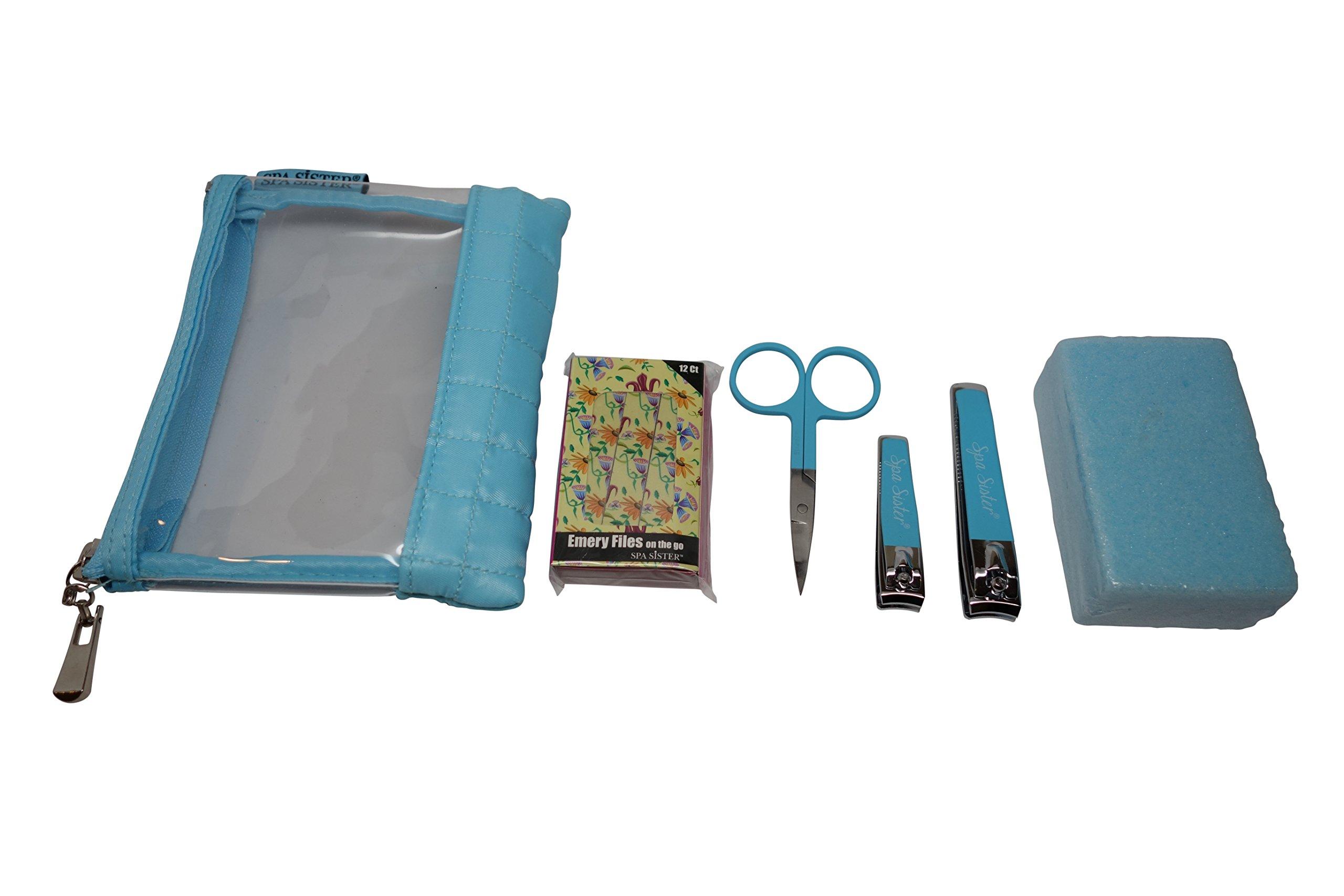 Bath Accessories Elegance Nail Kit, Blue, 6 Count