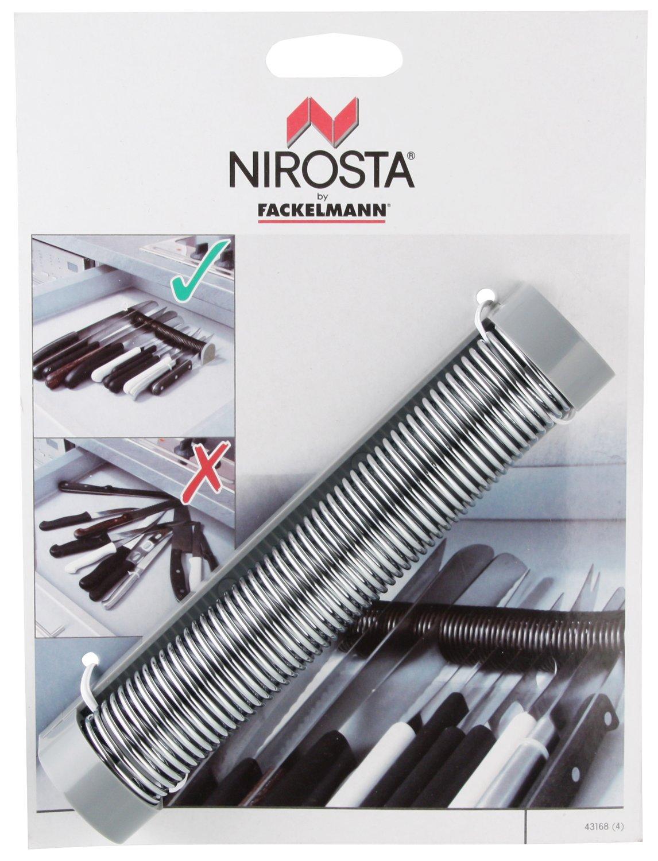 Nirosta - Organizador cajón cuchillos - ABS y acero. Gris e inox. 18cm. 1 ud