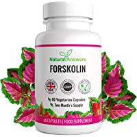Forskolin - Coleus Forskohlii - 2 Month Supply - Weight Management for Men and Women - 60 Vegetarian Capsules - 100% Suitable for Vegetarians - UK Manufactured from Natural Answers