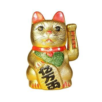 LUCKY Grande Golden Dinero de la Suerte Gato Maneki Neko: Amazon.es ...