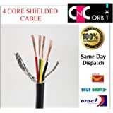 4 core x 1 square mm Core Shielded Signal Data transmission Wire cable for EMI protection (1 meter)
