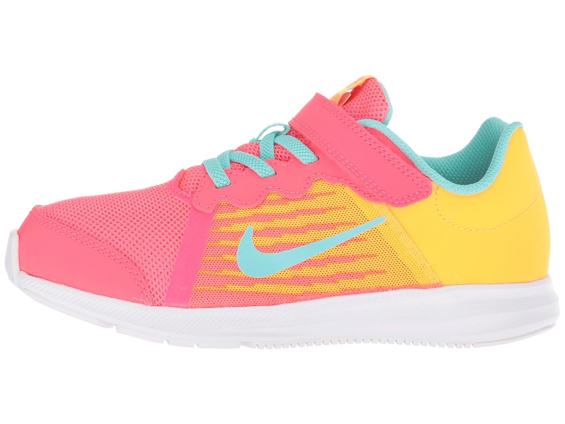 Nike Kids' Preschool Downshifter 8 Fade Running Shoes (1.5, Red/Green) by Nike (Image #6)