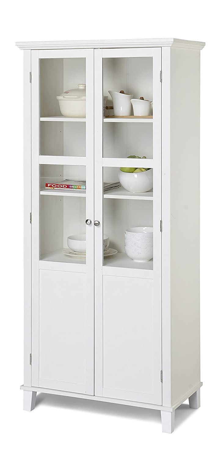 Amazon.com - Homestar 2 Door Storage Cabinet, White - China Cabinets