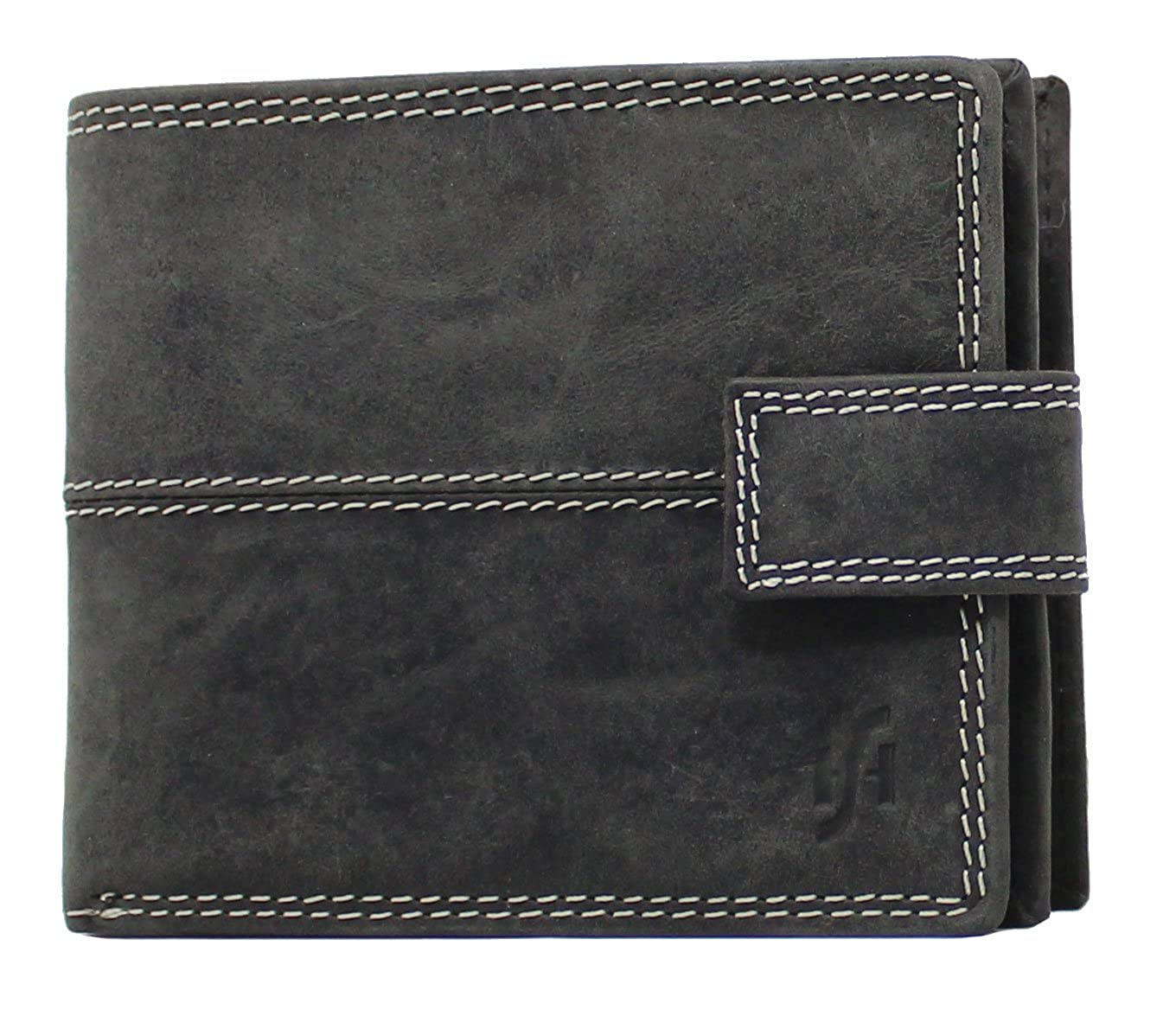 StarHide RFID Blocking Wallet For Men | Genuine Distressed Hunter Leather | Large Zip Around Coin Pocket Purse | Designed For Photo ID, Credit Cards And Banknotes - 1044 1044/2