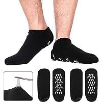 Codream - Calcetines de gel hidratantes para hombre (talla L, 2 pares), color negro