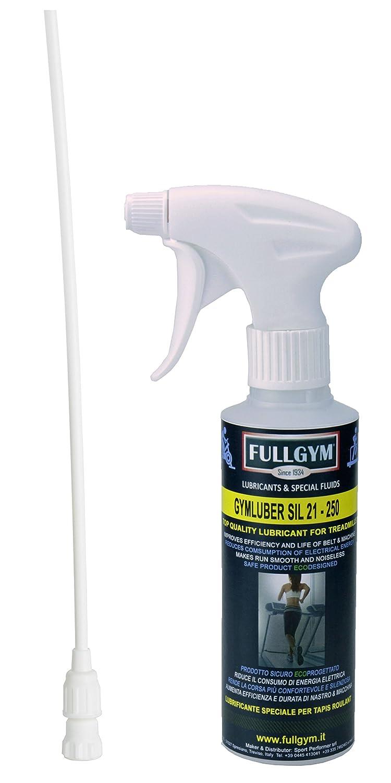 Gymluber SIL 21 - 250 ml. Lubrificante speciale per tapis roulant e attrezzi fitness da FULLGYM Produttore di lubrificanti e liquidi speciali SPORT PERFORMER