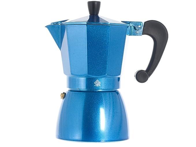 HOME Brigitte Color cafetera de 6 Tazas, Aluminio, Negro ...