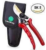 Forbice Potare, SK5 Cesoie Ergonomiche per Potatura da Giardino in Acciaio-Lame Affilate perfette per tagliare Cespugli, Arbusti & Siepi