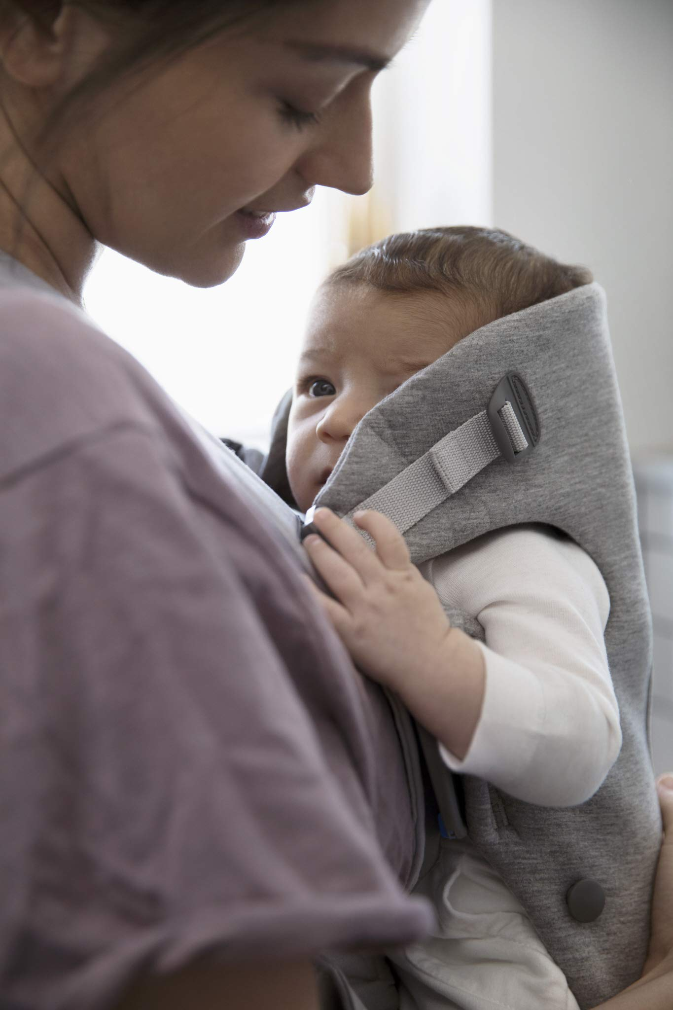 BABYBJORN Baby Carrier Mini in 3D Jersey, Light Grey by BabyBjörn (Image #4)