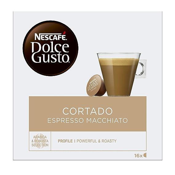 Nescafé Dolce Gusto - Cortado Espresso Macchiato, 16 Cápsulas