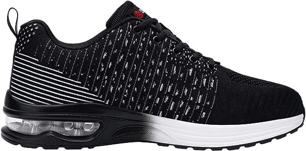 FENLERN Men's Steel Toe Shoes Air