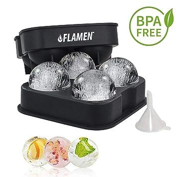 FLAMEN Fabricante de bolas de hielo - Bandeja de Silicona Flexible ... 3be7231d6567a