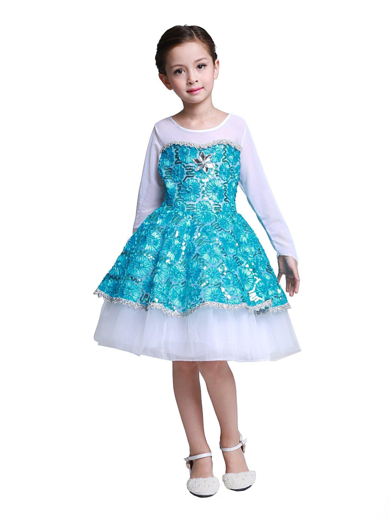 - 71Q0APPeJpL - Dressy Daisy Girls' Princess Elsa Costume Halloween Fancy Dress Princess Dresses