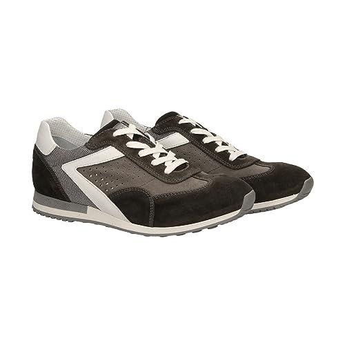 Scarpe Giardini Marrone Uomo Sneakers Camoscio Nero P800241u 103 8kX0PnwO