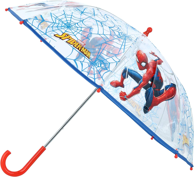 Spiderman Plástico Transparente Paraguas 24