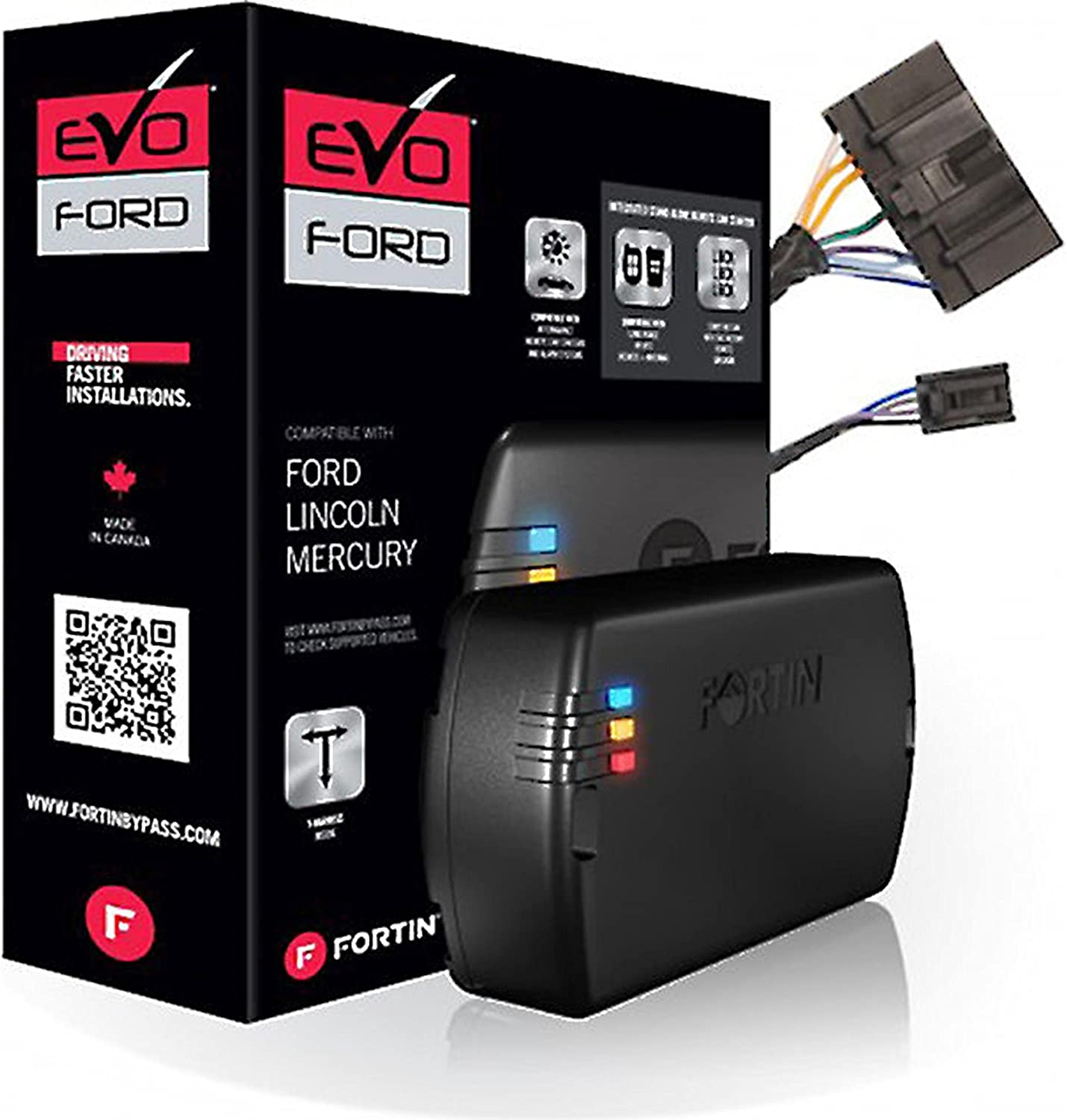 Fortin EVO-FORT2 Stand-Alone Add-On Remote Start Car Starter System for Ford Flip Key Vehicles