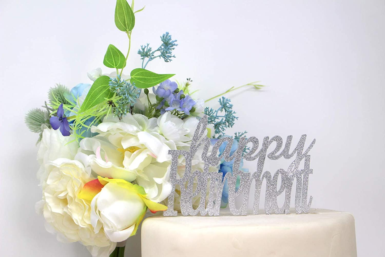 All About Details Happy Retirement Cake Topper 1pc Blue /& Silver