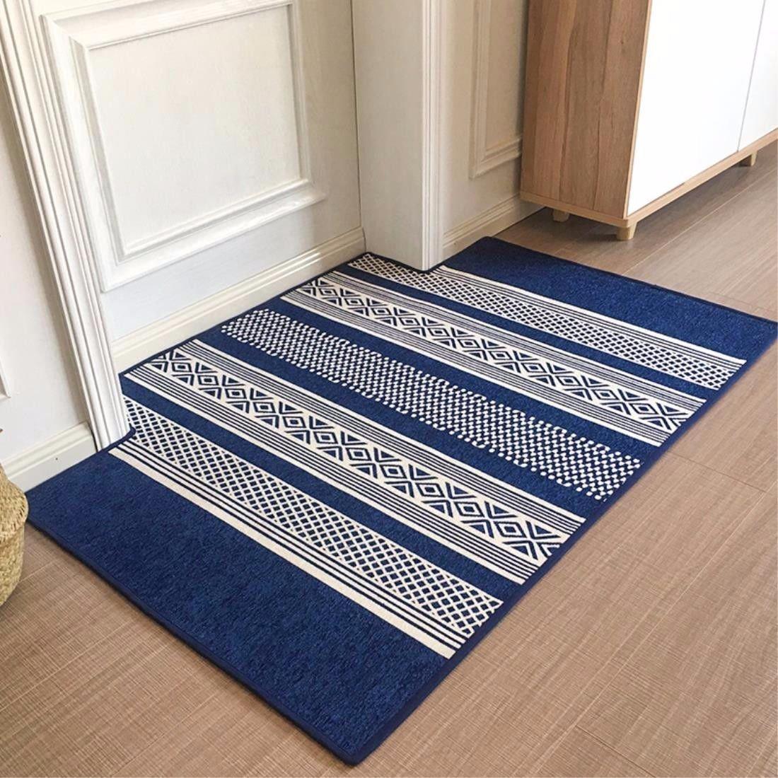 LIUXINDA-DT Modern household carpet, door, carpet, bedroom carpet, living room carpet,90cm (23.6 x 60 x 35.4 ''),蓝色