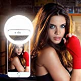 Rechargeable Selfie Ring Light Clip On Cell Phone Dimmable Beauty Fill Light 36 LED Adjustable Brightness Photo Video Enhancer Camera Photography for iPhone 6s Plus Android Samsung Galaxy S7 Edge S8