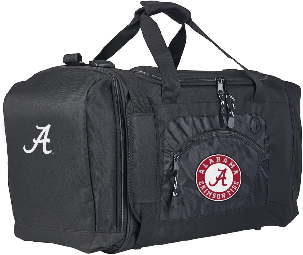 20 x 11.5 x 13 Officially Licensed NCAA Roadblock Duffel Bag Black