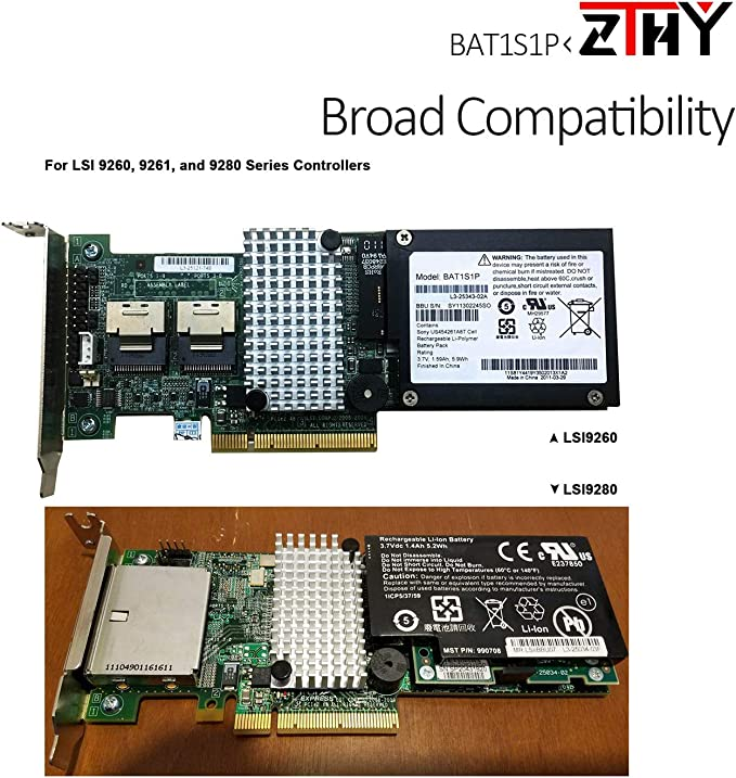 9260 9261 9280 NEW LSI LSIiBBU07 Intelligent Battery Backup Unit for 8880EM2