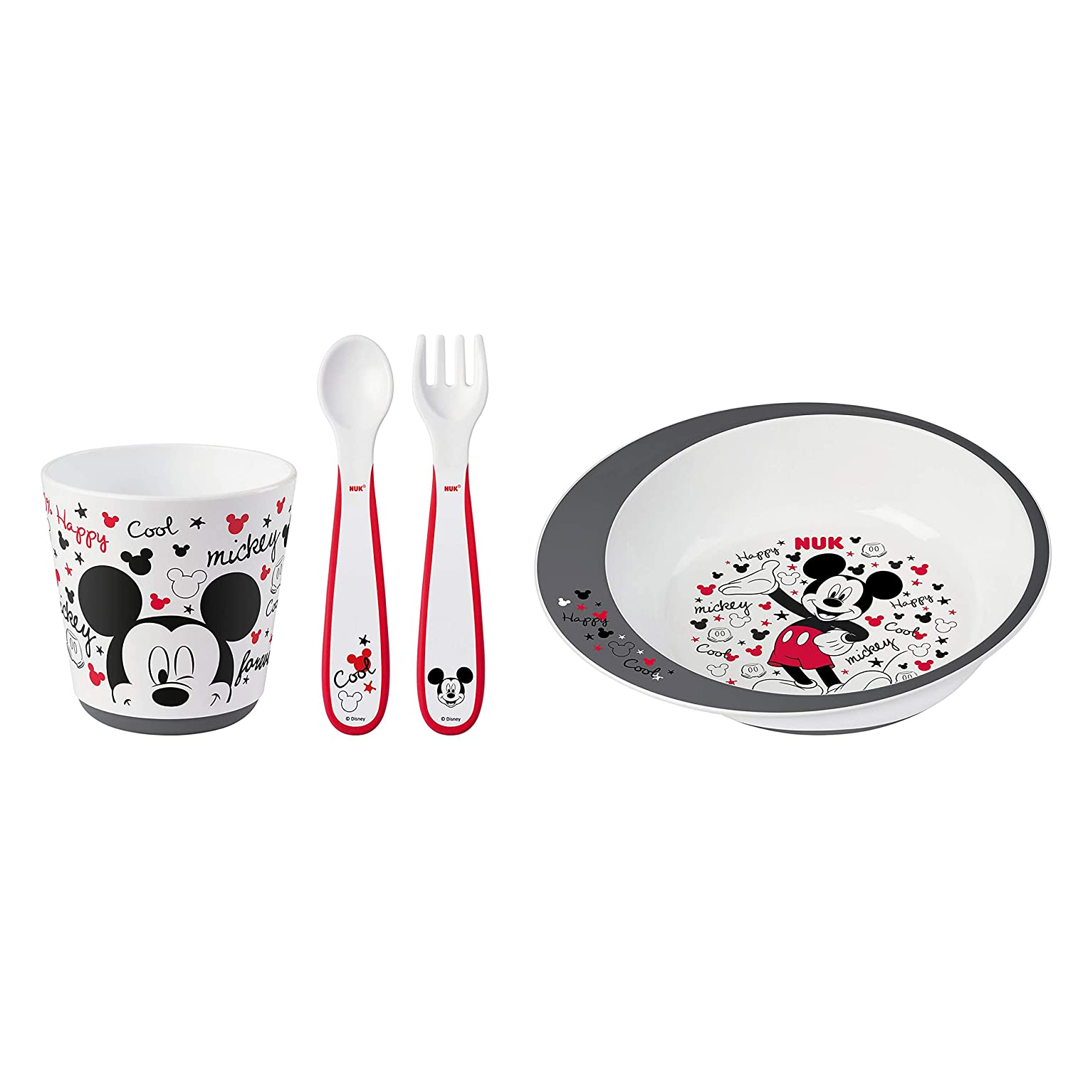 NUK Mickey Mouse Infant Tableware Set, 4 Pieces