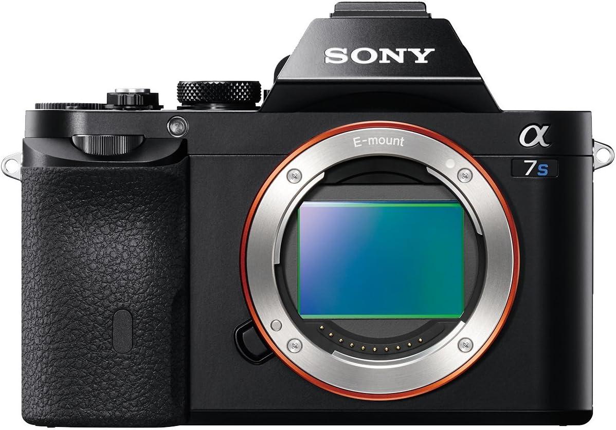 TALLA 12.2 Mp. Sony Alpha ILCE7S/BQ - Cámara EVIL (sensor Full Frame 35 mm, 12.2 Mp, ISO 409600, procesado en 16 bits, visor OLED, vídeo Full HD, Wi-Fi y NFC, sólo cuerpo) color negro