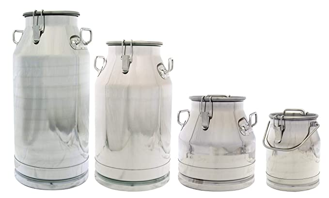 Amazon.com: Stainless Steel Milk Transport Cans with Strong ...