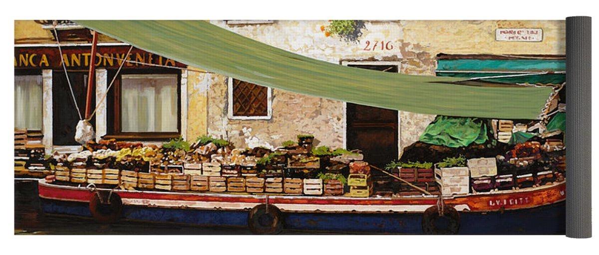 Pixels Yoga Mat w/ Bag ''il mercato galleggiante a Venezia''