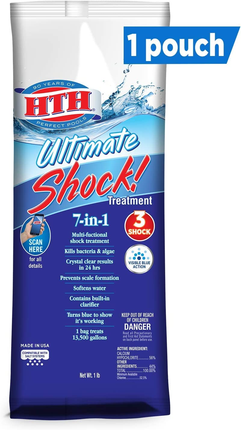 Amazon Com Hth 52027 Ultimate Shock Treatment Swimming Pool Chlorine Cleaner 1 Lb Garden Outdoor
