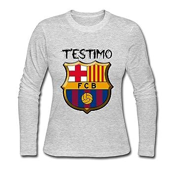 c318592fa AOPOCA Women's Long Sleeve FC Barcelona FCB Logo Tee Shirts XXL ...