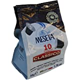 Nespresso Compatible 100 Classico Meseta Capsules Italian Espresso. Select combination of Arabica beans grown in the plateaus of Brazil and prized Robusta beans from India and Africa . Intensity 9