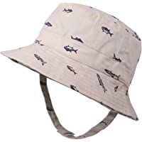 Flammi Baby Boy's Sun Hat Cotton Reversible UV Protection Bucket Hat Summer Play