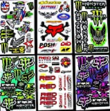 6 Sheets ' Motocross stickers ' BKK boys Rockstar bmx bike Scooter Moped army Decal Stickers