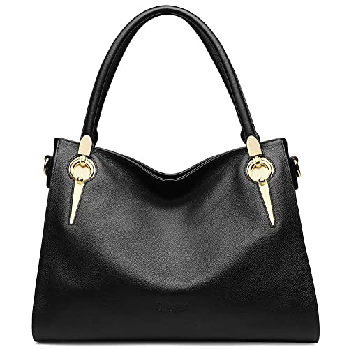 a0b5039ec6 CALLAGHAN Women s Genuine Leather Handbags Fashion Tote Purse Cross Body  Shoulder Bags for Ladies Girls Large