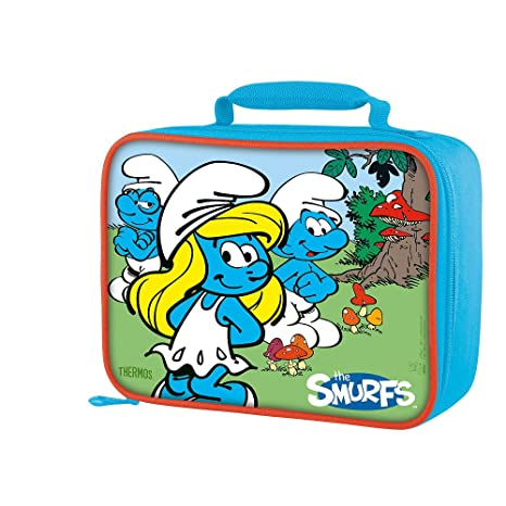 Smurfette & Smurfs Brainy & Clumsy Insulated Lunch Bag - Rectangular