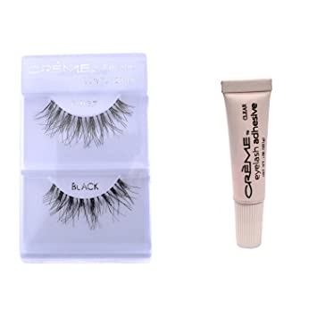 398b295d794 Amazon.com : 6 Pairs Crème 100% Human Hair Natural False Eyelash Extensions  #WSP, Free Gift : Beauty