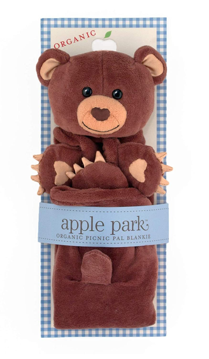 Apple Park Picnic Pals - Cubby Blankie, Blanket Baby Toy for Newborns, Infants, Toddlers - Hypoallergenic, 100% Organic Cotton