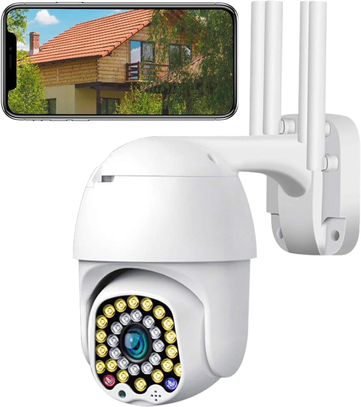 Cámara de Vigilancia WiFi para Detección de Personas Visión Nocturna por Infrarrojos, Detección de Movimiento, IP 65, Resistente al Agua, Interiores y Exteriores: Amazon.es: Bricolaje y herramientas