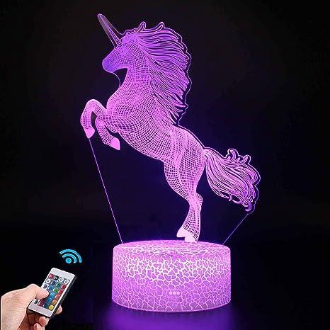 Einhorn Unicorn 3D Lampe LED Nachttischlampe Leselampe Nachtlicht Expressversand