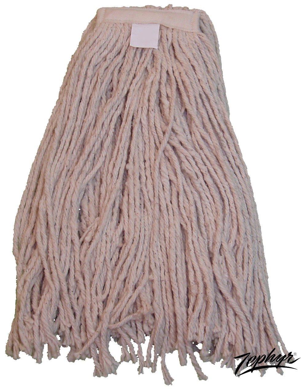 Zephyr 9005 BBL Cotton Wet Mop Head, #24 Size (Pack of 12)