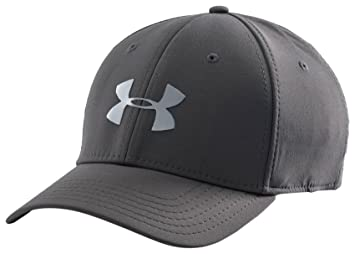 Under Armour Men s UA Headline Stretch Fit Curved Brim Cap - Charcoal 4fd62116556