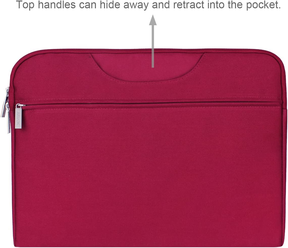 Arvok 17 17.3 Inch Water-resistant Canvas Fabric Laptop Sleeve With Handle