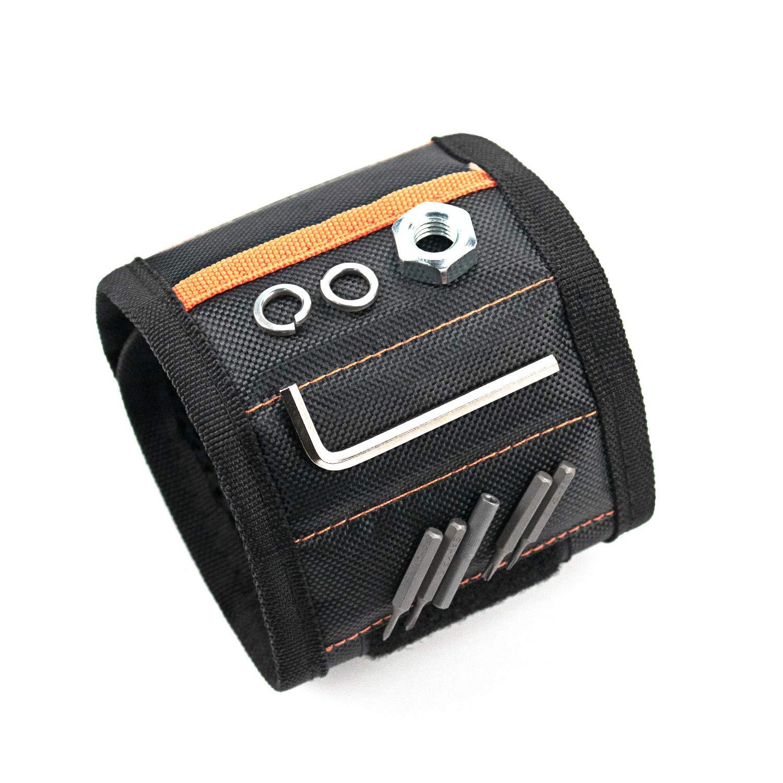 N/ägel Bohrer Freund und Heimwerker Schrauben bestes Geschenk f/ür M/änner Magnet-Armband mit 15 starken Magneten Werkzeugg/ürtel f/ür Halteschrauben Ehemann Vater