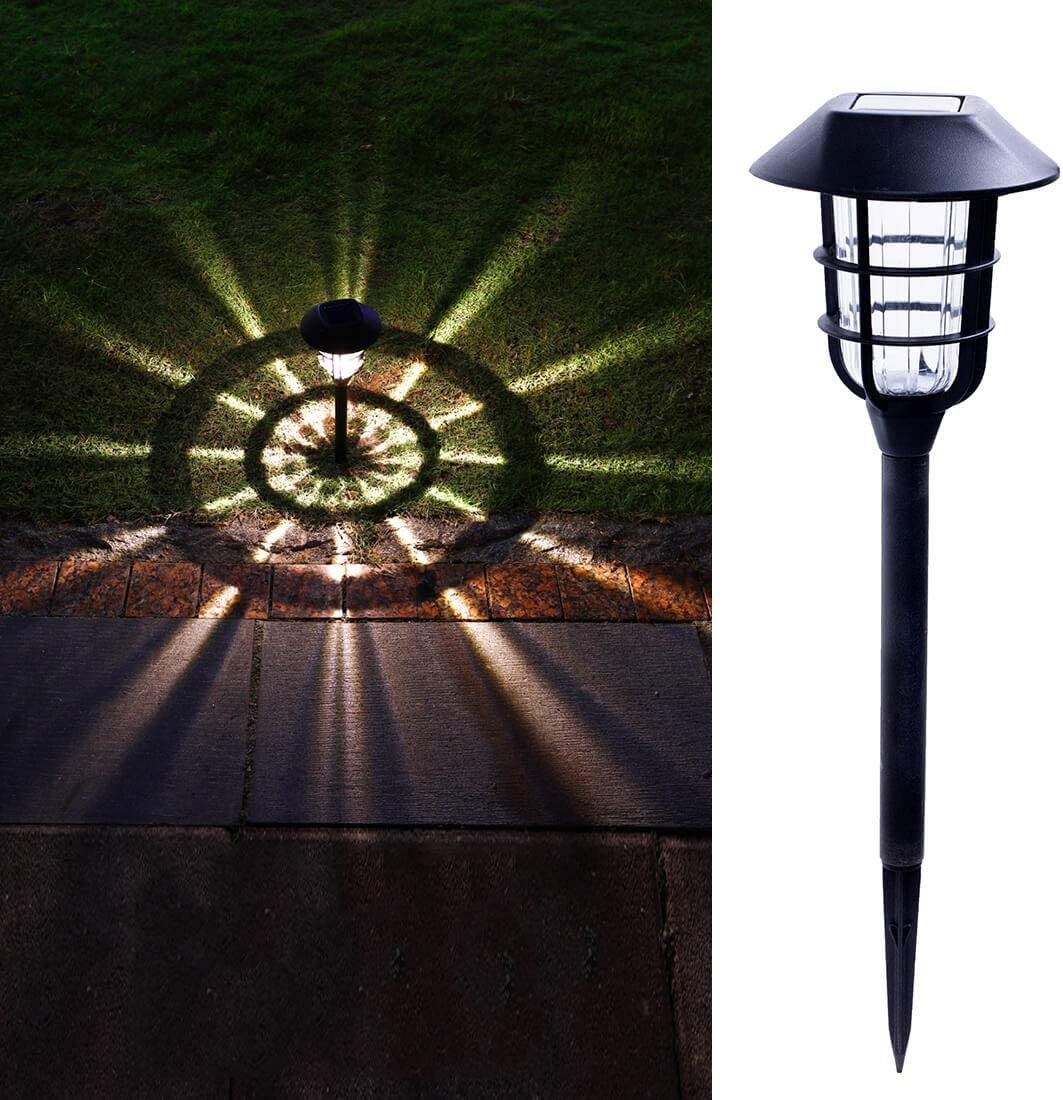 Solar Walkway Lights Outdoor, Warm White Pathway Garden Stakes, Waterproof Sun Powered LED Landscape Lighting for Yard,Path,Lawn Decor (8Lumens, 6Pcs)
