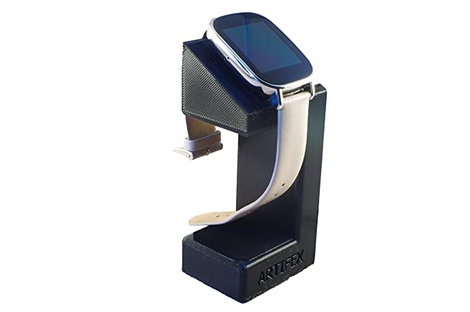 Artifex Design Stand Configured for ASUS ZenWatch 2 Stand, Charging Smartwatch Cradle (Black)