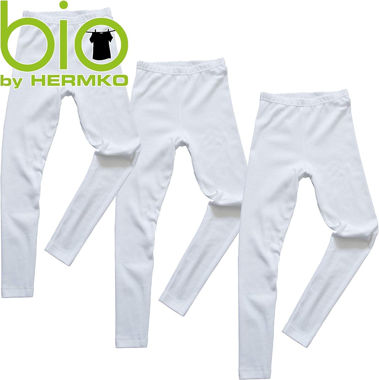 HERMKO 2720 Confezione da 3 Legging Bambino per Maschi e Femmine 100/% Cotone